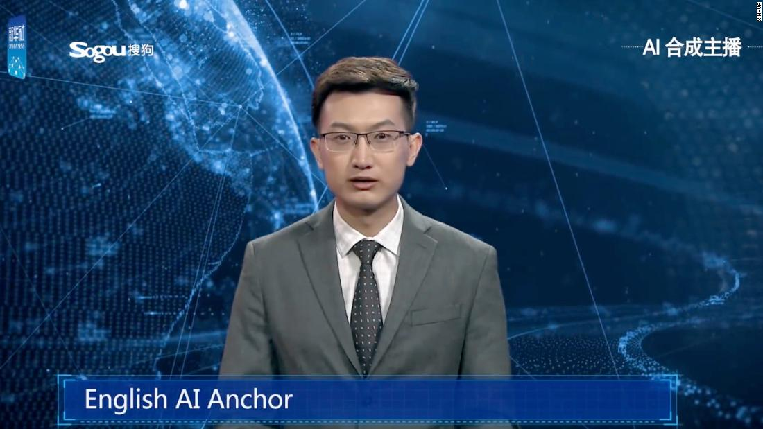 China has developed a virtual anchor to deliver the news thumbnail
