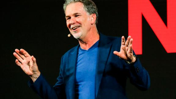 Netflix CEO Reed Hastings delivers his opening address during a Netflix event at the Marina Bay Sands on November 8, 2018 in Singapore.