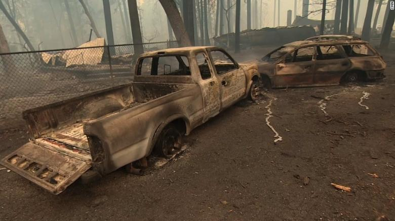 See destruction caused by devastating wildfire