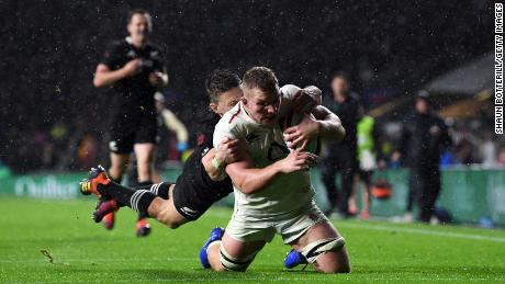 Sam Underhill's late try for England was disallowed.