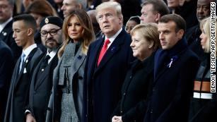 Macron rebukes nationalism as Trump observes Armistice Day