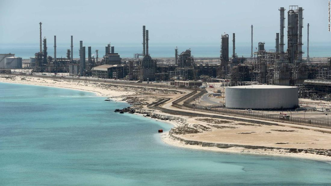 Saudi Aramco's Ras Tanura oil refinery and oil terminal.