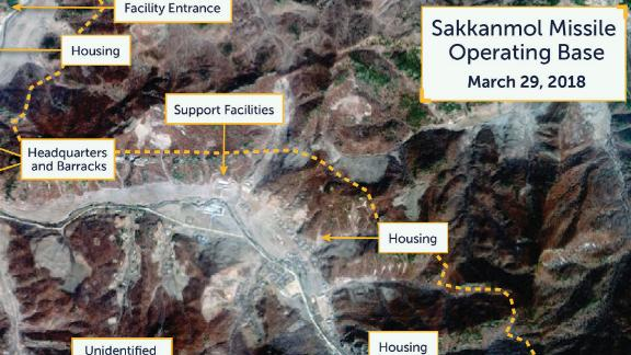 North Korea's Sakkanmol Missile Operating Base, March 29, 2018.