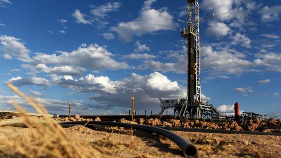 A Colgate Energy LLC oil drilling rigstands in Reeves County, Texas, U.S., on Thursday, Aug. 23, 2018. Spending on water management in the Permian Basin is likely to nearly double to more than $22 billion in just five years, according to industry consultant IHS Markit.