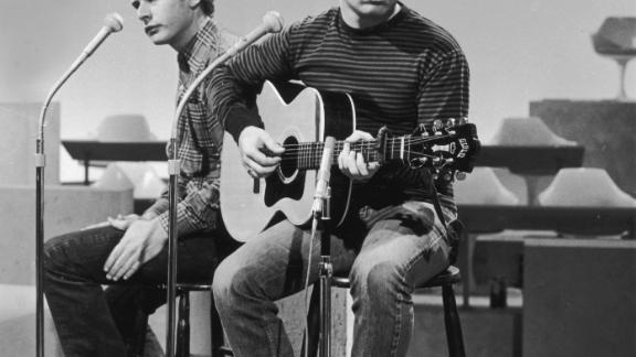 Simon, right, with Art Garfunkel, around 1965.