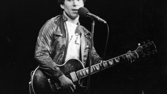 Paul Simon performing in London, around 1980.