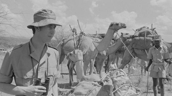 Prince Charles goes on a safari in Kenya in February 1971.