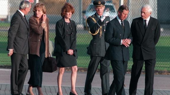 Prince Charles, second from right, and Princess Diana