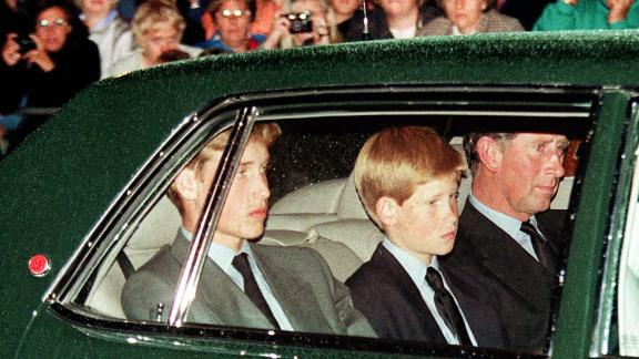 Prince Charles and his sons follow Diana