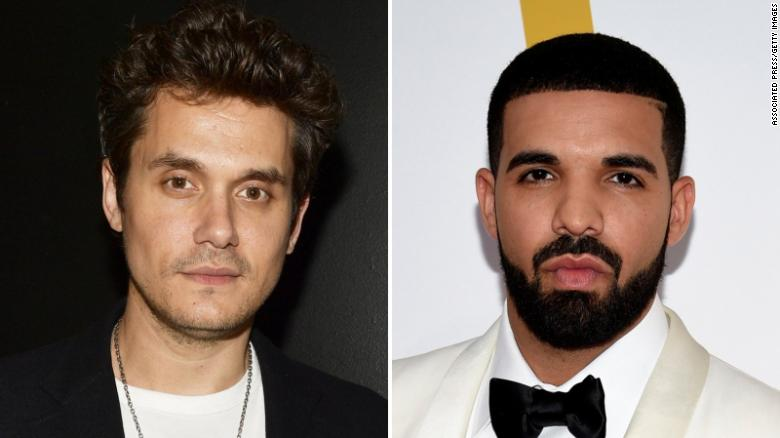 John Mayer said Drake's 30th birthday party left him with a six-day hangover.