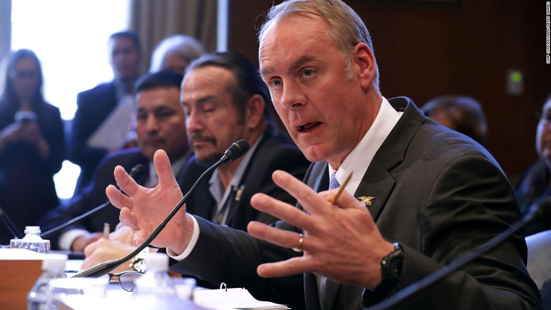 Ryan Zinke to leave Trump administration at end of the year