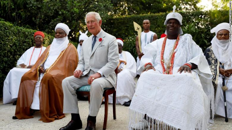 Prince Charles attends a meeting with regional leaders in Abuja on November 6.