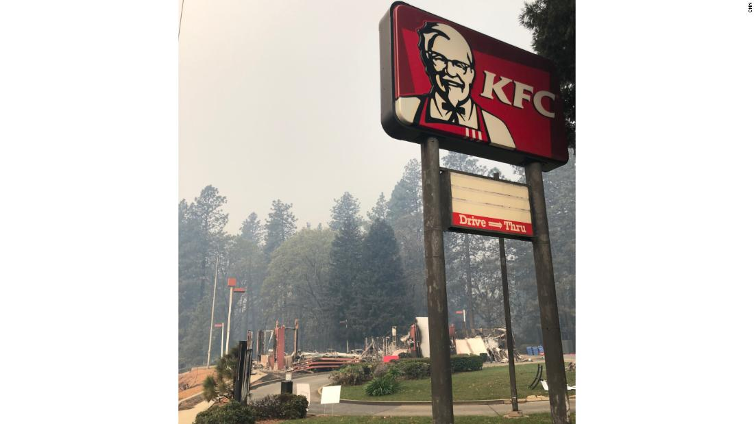 Image result for KFC burned to ground paradise photo