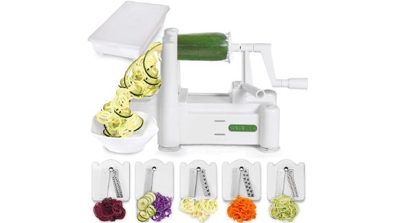 Christmas gift ideas for health and fitness enthusiasts: Spiralizer 5-Blade Vegetable Slicer ($19.99; amazon.com)