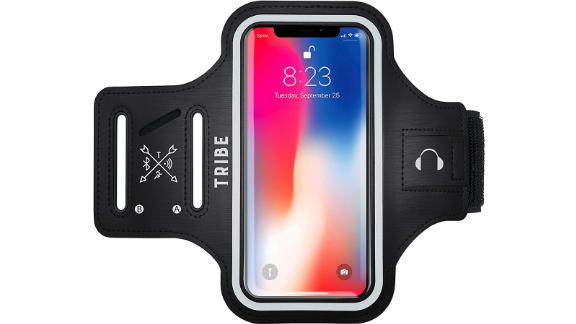 Christmas gift ideas for health and fitness enthusiasts: Water Resistant Cell Phone Armband ($9.98; amazon.com)