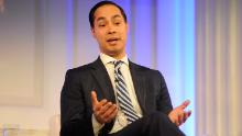 NEW YORK, NY - MAY 03:  Secretary, U.S. Department of Housing and Urban Development Julian Castro speaks onstage at the 2016 Common Sense Media Awards on May 3, 2016 in New York City.  (Photo by Matthew Eisman/Getty Images for Common Sense Media)