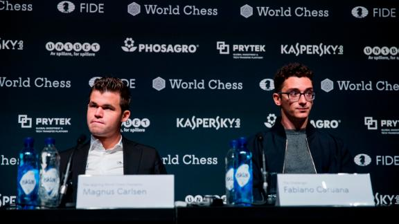 """Asked whether he felt he was playing for America, Caruana said: """"I try to approach tournaments as an individual. If I have success I would like to share it with the US."""""""