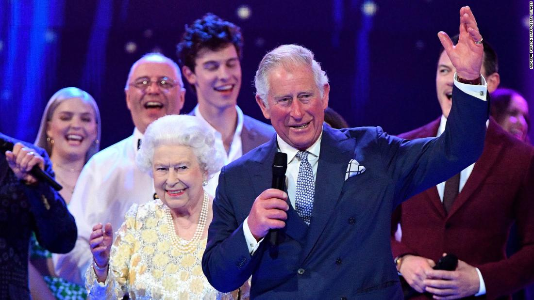 Prince Charles leads three cheers for his mother as the Queen celebrated her 92nd birthday at a London concert in April 2018.