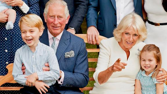 Prince Charles poses with family members for an official portrait to mark his 70th birthday. He