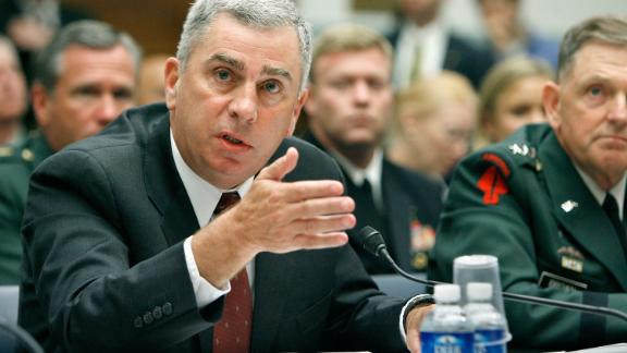 WASHINGTON - AUGUST 01:   Former commander of the U.S. Central Command retired Gen. John Abizaid testifies to the House Oversight and Government Reform Committee on August 1, 2007. Abizaid, now the Trump administration's nominee to be US ambassador to Saudi Arabia, appeared before the Senate Foreign Relations Committee for his nomination hearing on March 6, 2019.