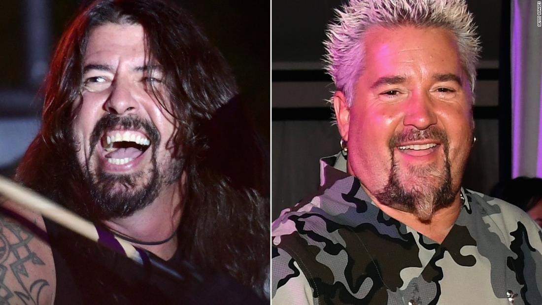 Dave Grohl, Guy Fieri and other celebs feed wildfire first responders