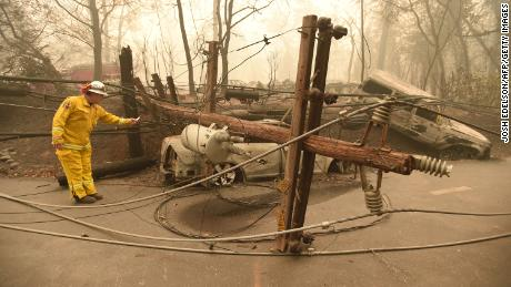 PG & E could have big financial problems when he was declared responsible for the campfire in California