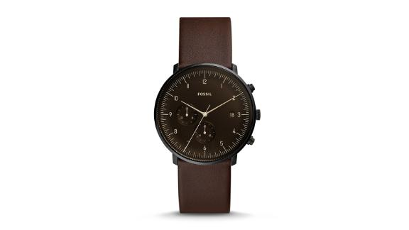 Men's clothing and accessories Christmas gift ideas: Chase Timer Chronograph Leather Watch ($145; fossil.com)