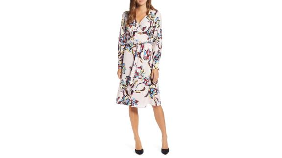 Women's clothing and accessories Christmas gift ideas: Halogen Wrap Dress ($59.40; nordstrom.com)