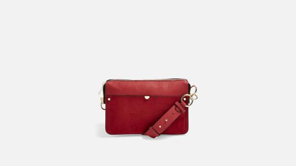 Women's clothing and accessories Christmas gift ideas: Clara Suede Shoulder Bag ($55; topshop.com)