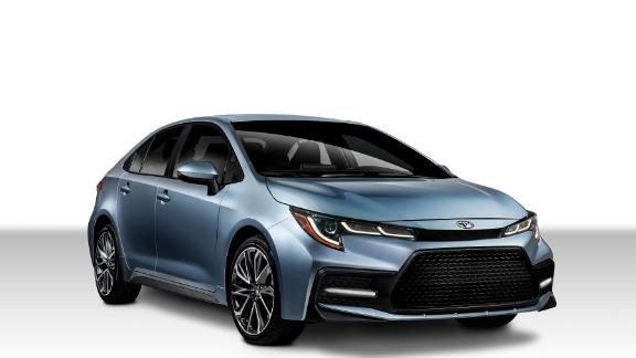 The Toyota Corolla XSE,  shown here, is the top-of-the-line version offering the most features and the most performance.