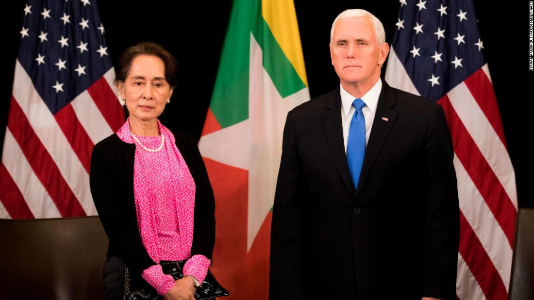 Pence tells Aung San Suu Kyi the persecution of Rohingya is 'without excuse'