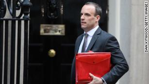 Dominic Raab, Brexit Secretary, resigns saying he cannot support May's deal