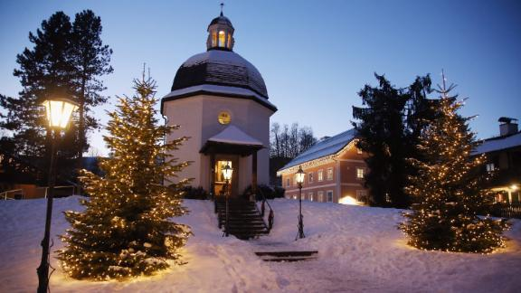 """<strong>Oberndorf, Austria:</strong> In 1818 at Christmas Eve, """"Silent Night, Holy Night"""" (""""Stille Nacht Heilige Nacht"""") was heard for the first time in the St. Nicholas church of Oberndorf. This memorial chapel replaced the church, which was torn down."""