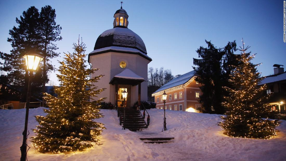 "<strong>Oberndorf, Austria:</strong> In 1818 at Christmas Eve, ""Silent Night, Holy Night"" (""Stille Nacht Heilige Nacht"") was heard for the first time in the St. Nicholas church of Oberndorf. This memorial chapel replaced the church, which was torn down."