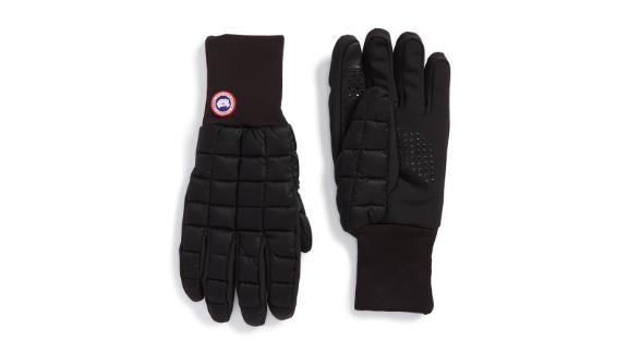 """<strong>Canada Goose Northern Liner Gloves ($125; </strong><a href=""""https://click.linksynergy.com/deeplink?id=Fr/49/7rhGg&mid=1237&u1=1201stockingstuffers&murl=https%3A%2F%2Fshop.nordstrom.com%2Fs%2Fcanada-goose-northern-liner-gloves%2F4734553%3Forigin%3Dcategory-personalizedsort%26breadcrumb%3DHome%252FMen%252FAccessories%252FHats%252C%2520Gloves%2520%2526%2520Scarves%26color%3Dblack"""" target=""""_blank""""><strong>nordstrom.com</strong></a><strong>)</strong><br />"""