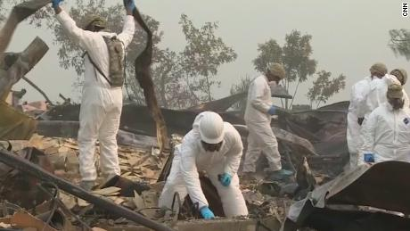 Search for remains continues after wildfire