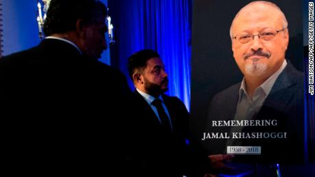 Jamal Khashoggi is remembered at a memorial in Washington.