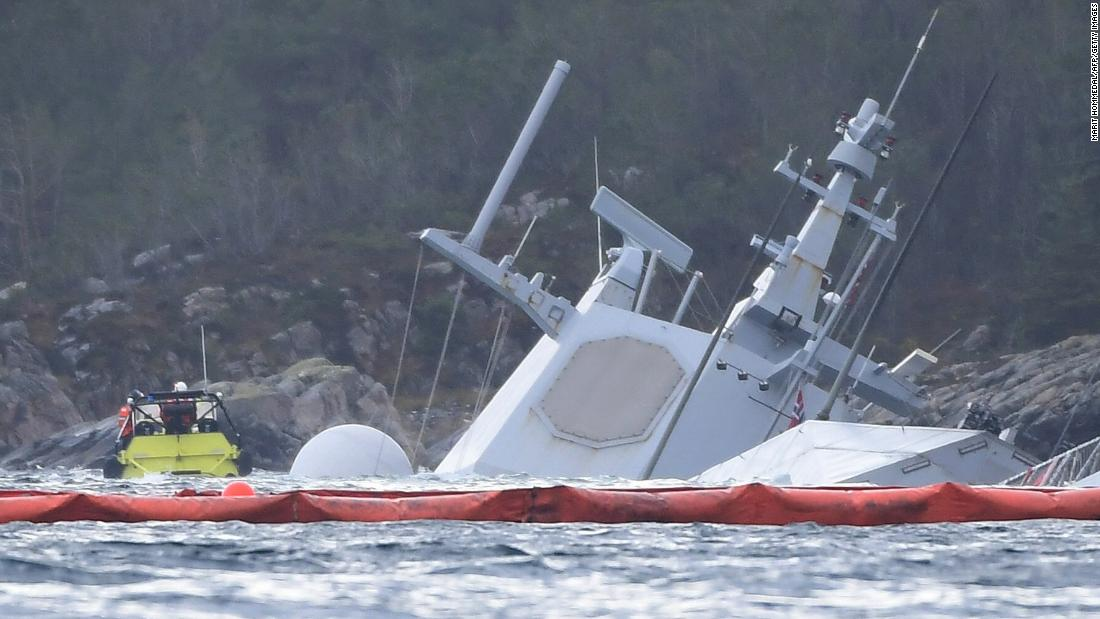 Helge Ingstad Norway Stunned As Warship Sinks After Collision Cnn