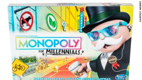 Monopoly for Millennials is not about real estate because 'you can't afford it anyway,' Hasbro says
