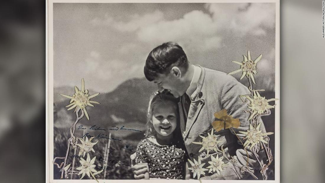A Photo Of Hitler Posing With A Girl Of Jewish Heritage Auctions For 11 520 Cnn