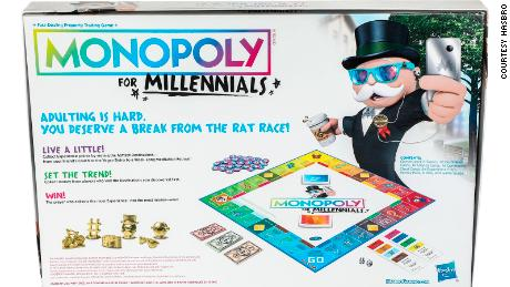 "Monopoly for Millennials allows young fans to take ""a break from the rat race,"" Hasbro says"