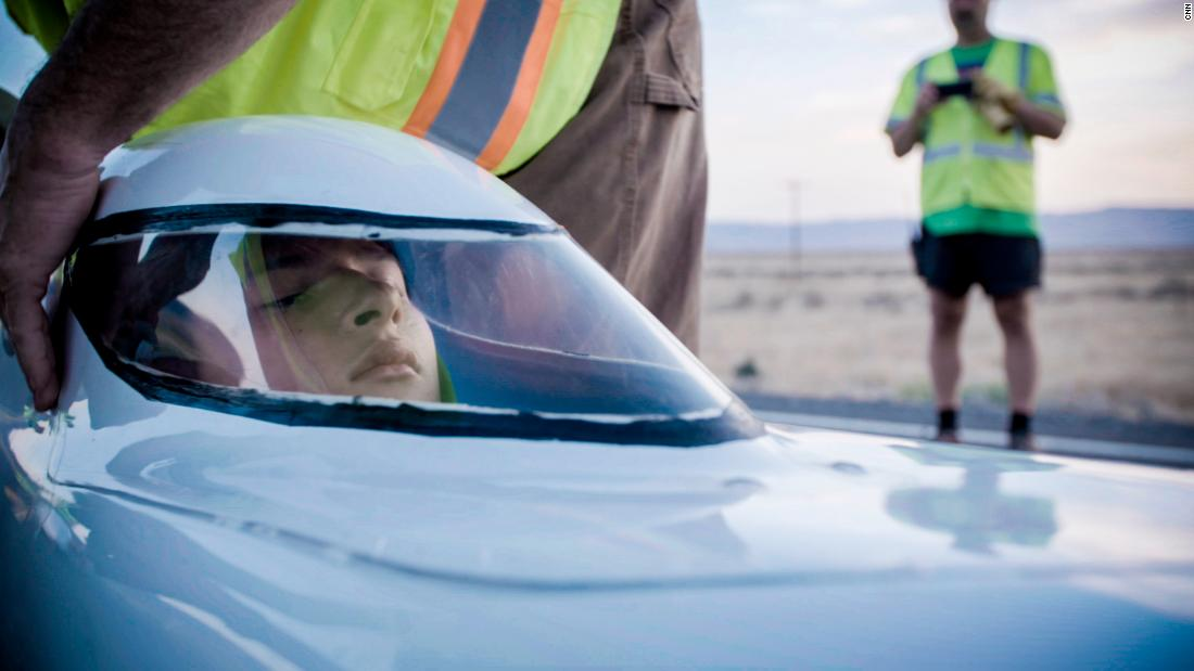University teams and enterprising individuals bring their bike designs to the Nevada desert every year to attempt to be the fastest person on Earth without an engine. Ishtey Amminger broke a world record this year for the junior men's division.