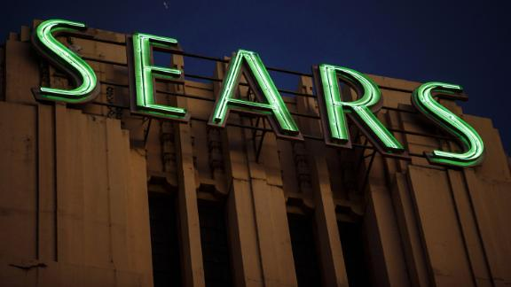 Signage is displayed on the Sears, Roebuck