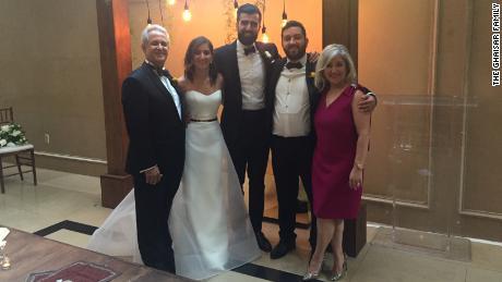 The Ghaisar family. From left, James Ghaisar, Negeen Ghaisar, Negeen's husband, Kouros Emami, Bijan Ghaisar and Kelly Ghaisar