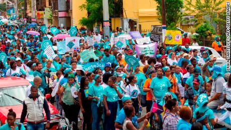 Thousands march in Santo Domingo in July, calling for the decriminalization of abortion in the Dominican Republic.