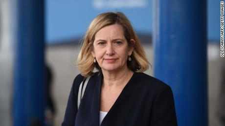 "Amber Rudd said she was ""mortified"" by her choice of words."