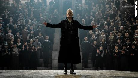 "Johnny Depp as Gellert Grindelwald in ""Fantastic Beasts: The Crimes of Grindelwald."""