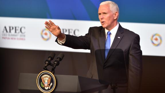 "Mike Pence said Khashoggi's killing was an ""affront to a free and independent press."""