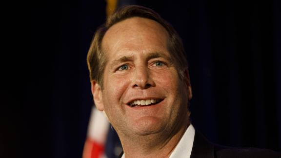 Harley Rouda, Democratic U.S. Representative candidate from California, speaks during an election night rally in Newport Beach, California, U.S., on Tuesday, Nov. 6, 2018. Democrats are poised to reclaim the U.S. House, fueled by voter anger and discontent with President Donald Trump to a victory that would dramatically alter his next two years in office and make a deeply divided nation even more difficult to govern. Photographer: Patrick T. Fallon/Bloomberg via Getty Images