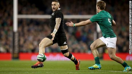 All Blacks' TJ Perenara in action.
